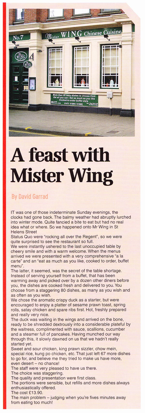 Mister Wing Review